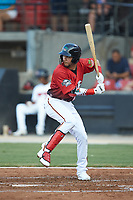 Anderson Tejeda (9) of the Down East Wood Ducks at bat during the 2018 Carolina League All-Star Classic at Five County Stadium on June 19, 2018 in Zebulon, North Carolina. The South All-Stars defeated the North All-Stars 7-6.  (Brian Westerholt/Four Seam Images)
