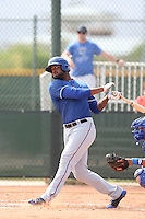 Jordan Akins #71 of the Texas Rangers during a Minor League Spring Training Game against the Kansas City Royals at the Kansas City Royals Spring Training Complex on March 20, 2014 in Surprise, Arizona. (Larry Goren/Four Seam Images)