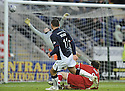 31/01/2009  Copyright Pic: James Stewart.File Name : sct_jspa09_falkirk_v_aberdeen.MICHAEL HIGDON SCORES FALKIRK'S GOAL.James Stewart Photo Agency 19 Carronlea Drive, Falkirk. FK2 8DN      Vat Reg No. 607 6932 25.Studio      : +44 (0)1324 611191 .Mobile      : +44 (0)7721 416997.E-mail  :  jim@jspa.co.uk.If you require further information then contact Jim Stewart on any of the numbers above.........