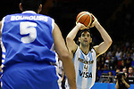 Argentina´s  Scola (R)and Greece´s Bourousis during FIBA Basketball World Cup Spain 2014 match between Argentina and Greece at Sevilla stadium in Sevilla, Spain. September 04, 2014. (ALTERPHOTOS/Victor Blanco)