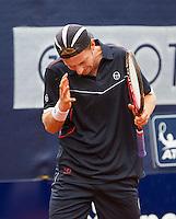 07-09-11, Tennis, Alphen aan den Rijn, Tean International, Matwe Middelkoop uit zijn frustratie
