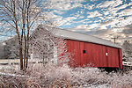 The Carleton covered bridge in Swanzey, New Hampshire, USA