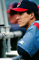 Travis Fryman of the Cleveland Indians during a game against the Anaheim Angels at Angel Stadium circa 1999 in Anaheim, California. (Larry Goren/Four Seam Images)