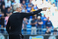 28th August 2021; Cardiff City Stadium, Cardiff, Wales;  EFL Championship football, Cardiff versus Bristol City; Mick McCarthy, Manager of Cardiff City gives instructions