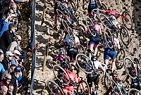 in the infamous Zonhoven 'Pit'<br /> <br /> Elite Women's Race<br /> 2021 UCI cyclo-cross World Cup - Zonhoven (BEL)<br /> <br /> ©kramon