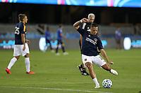SAN JOSE, CA - OCTOBER 03: Javier Hernandez #14 of the Los Angeles Galaxy before a game between Los Angeles Galaxy and San Jose Earthquakes at Earthquakes Stadium on October 03, 2020 in San Jose, California.