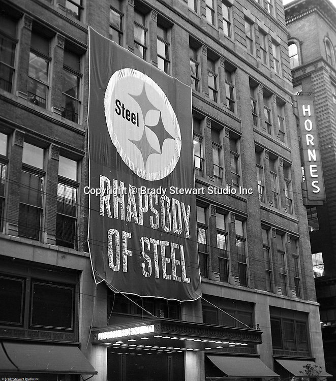 Client: US Steel<br /> Ad Agency: US Steel Marketing<br /> Contact:<br /> Product: Steel displays and fixtures and consumer products made from steel.<br /> Location: Hornes Department Store in downtown Pittsburgh<br /> <br /> View of the Christmas promotion at Horne's department store in downtown Pittsburgh.  US Steel launched an awareness campaign of all the current uses of steel in everyday products.  During this time, ALCOA Aluminum Company of America also headquartered in Pittsburgh, was aggressively competing to enter markets where US  steel companies traditionally dominated market share. Examples included beer and food Cans, appliances, automobile parts, children's toys/bicycles, and more.