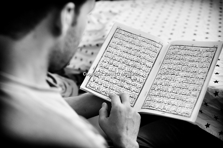 Studying the Koran is part of the programme in a drug treatment clinic in Mazar-e Sharif, 26 September 2013. There has been a huge explosion in the number of drug users in Afghanistan, with recent figures suggesting that of the 35 million populations, 1 million are addicts. (John D McHugh)
