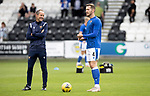 St Mirren v St Johnstone…29.08.21  SMiSA Stadium    SPFL<br />Jamie McCart pictured during the warm-up with coach Alec Cleland<br />Picture by Graeme Hart.<br />Copyright Perthshire Picture Agency<br />Tel: 01738 623350  Mobile: 07990 594431