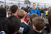 Alameda, CA - February 10, 2018: The San Jose Navy SEAL Foundation Kit Unveiling Ceremony.