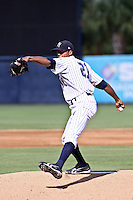 August 28, 2009:  Pitcher D.J. Mitchell of the Tampa Yankees delivers a pitch during a game at George M Steinbrenner Field in Tampa, FL.  Tampa is the Florida State League affiliate of the New York Yankees.  Photo By Mark LoMoglio/Four Seam Images