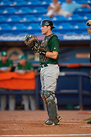 Daytona Tortugas catcher Tyler Stephenson (30) during a game against the St. Lucie Mets on August 3, 2018 at First Data Field in Port St. Lucie, Florida.  Daytona defeated St. Lucie 3-2.  (Mike Janes/Four Seam Images)