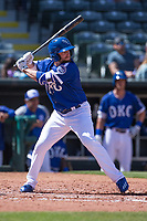 Tyler Holt (2) of the Oklahoma City Dodgers at bat during the game against the Iowa Cubs at Chickasaw Bricktown Ballpark on April 9, 2016 in Oklahoma City, Oklahoma.  Oklahoma City defeated Iowa 12-1 (William Purnell/Four Seam Images)
