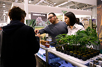 Marijuana plants <br /> Rome February 21st 2020. Hemp Fair Canapa Mundi Rome 2020.<br /> Photo Samantha Zucchi Insidefoto