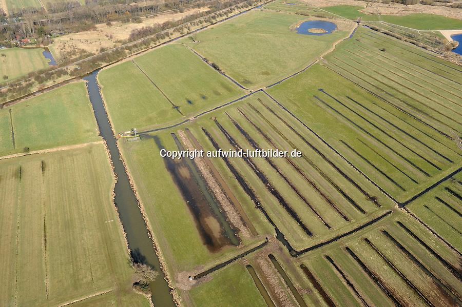 Landschaftskorridor Allermoehe :EUROPA, DEUTSCHLAND, HAMBURG 19.03.2009:Landschaftkorridor Allermoehe, Naturschutz, Feld, Acker,