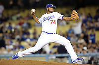 05/09/12 Los Angeles, CA: Los Angeles Dodgers relief pitcher Kenley Jansen #74during an MLB game played between the San Francisco Giants and Los Angeles Dodgers at Dodger Stadium