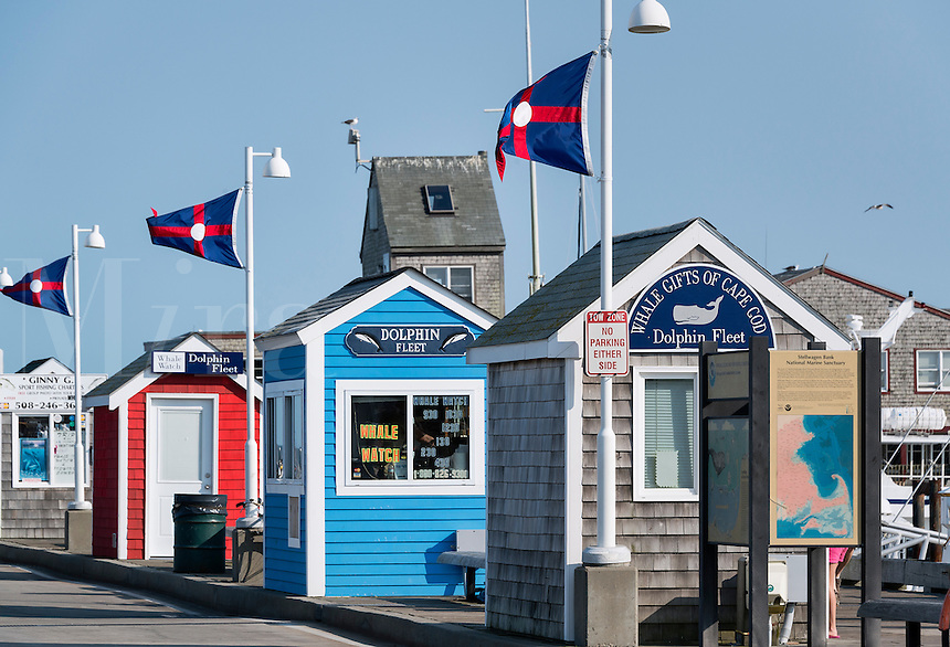 Excusion ticket booths, Provincetown, Cape Cod, Massachusetts, USA