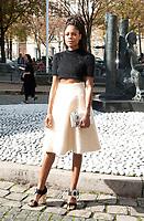October 3 2017, PARIS FRANCE the Miu Miu<br /> Show at the Paris Fashion Week Spring Summer 2017/2018. Actress Naomie Harris<br /> arrives at the show.