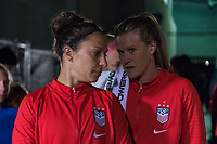 COLUMBUS, OH - NOVEMBER 07: Carli Lloyd #10 of the United States talks to Alyssa Naeher during a game between Sweden and USWNT at Mapfre Stadium on November 07, 2019 in Columbus, Ohio.