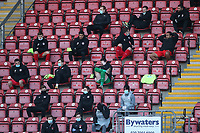 Orient substitutes and staff in the stand during Leyton Orient vs Forest Green Rovers, Sky Bet EFL League 2 Football at The Breyer Group Stadium on 23rd January 2021