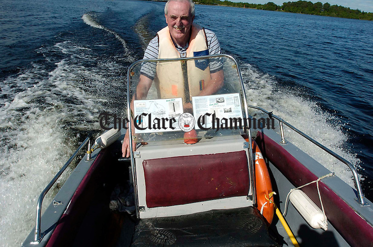 Ger Madden makes one of his regular trips to Holy Island from Mountshannon harbour. Photograph by John Kelly.