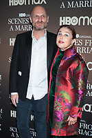 NEW YORK, NY- October 10: Hagai Levi, Tova Feldshuh at the HBOMAX premiere of Scenes From A Marriage at the Museum of Modern Art Titus Theatre in New York City on October 10, 2021 <br /> CAP/MPI/RW<br /> ©RW/MPI/Capital Pictures