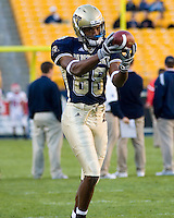21 October 2006: Pitt wide receiver Oderick Turner..The Rutgers Scarlet Knights defeated the Pitt Panthers 20-10 on October 21, 2006 at Heinz Field, Pittsburgh, Pennsylvania.