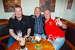 Enjoying the evening in The Dunloe Lodge in Killarney on Saturday, l to r: Michael Ward, Patrick and John Costello (All Killarney).
