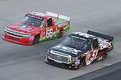 NASCAR Camping World Truck Series<br /> Bar Harbor 200<br /> Dover International Speedway, Dover, DE USA<br /> Friday 2 June 2017<br /> Harrison Burton, DEX Imaging Toyota Tundra, Ross Chastain, Delaware Office of Highway Safety / Protect your Melon Chevrolet Silverado<br /> World Copyright: John K Harrelson<br /> LAT Images<br /> ref: Digital Image 17DOV1jh_03385