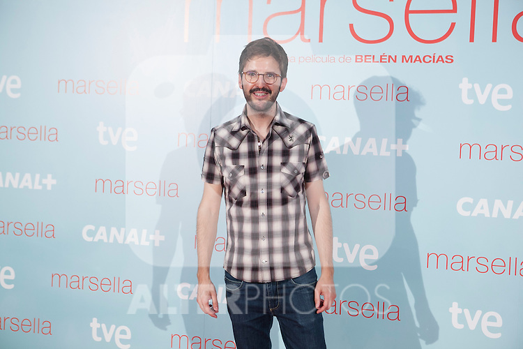 Julian Lopez poses at `Marsella´ film premiere photocall at Capital cinema in Madrid, Spain. July 17, 2014. (ALTERPHOTOS/Victor Blanco)