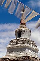 Stupa im Kloster Tikse, Ladakh (Jammu+Kashmir). Indien
