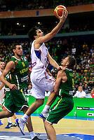 Milos Teodosic, during round 2, group E, basketball game between Serbia and Lithuania in Vilnius, Lithuania, Eurobasket 2011, Wednesday, September 7, 2011. (photo: Pedja Milosavljevic)