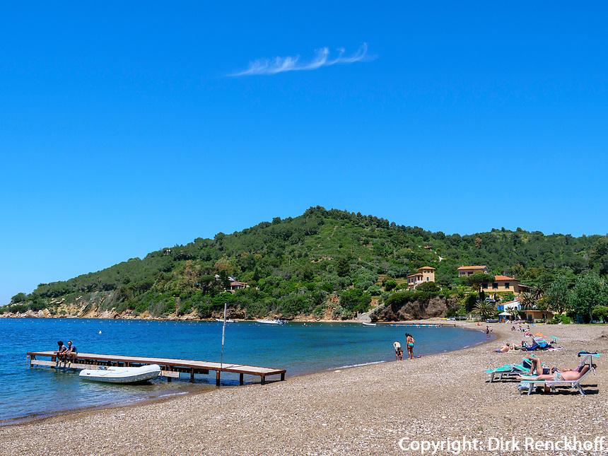 Spiaggia Bagnaia, Elba, Region Toskana, Provinz Livorno, Italien, Europa<br /> Beach Spiaggia Bagnaia, Elba, Region Tuscany, Province Livorno, Italy, Europe