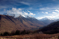 Glen Nevis, Ben Nevis and the Mamores from Cow Hill, Lochaber