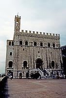 Italy: Gubbio--Palazzo Dei Consoli. Photo '83.