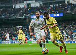 Jaume Vicent Costa Jorda, J Costa (R), of Villarreal CF is tackled by Daniel Carvajal Ramos of Real Madrid during the La Liga 2017-18 match between Real Madrid and Villarreal CF at Santiago Bernabeu Stadium on January 13 2018 in Madrid, Spain. Photo by Diego Gonzalez / Power Sport Images