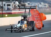 Sep 5, 2020; Clermont, Indiana, United States; NHRA top fuel driver Lex Joon during qualifying for the US Nationals at Lucas Oil Raceway. Mandatory Credit: Mark J. Rebilas-USA TODAY Sports