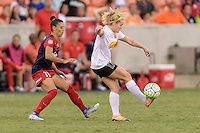 Houston, TX - Sunday Oct. 09, 2016: Ali Krieger, Kristen Hamilton during the National Women's Soccer League (NWSL) Championship match between the Washington Spirit and the Western New York Flash at BBVA Compass Stadium. The Western New York Flash win 3-2 on penalty kicks after playing to a 2-2 tie.