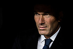 Coach Zinedine Zidane of Real Madrid looks on prior to their La Liga match between Real Madrid and Athletic Club at the Santiago Bernabeu Stadium on 23 October 2016 in Madrid, Spain. Photo by Diego Gonzalez Souto / Power Sport Images