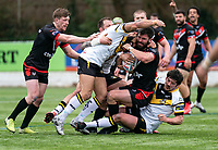 Will Lovell of London Broncos during the Betfred Challenge Cup match between London Broncos and York City Knights at The Rock, Rosslyn Park, London, England on 28 March 2021. Photo by Liam McAvoy.