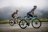 Esteban Chaves (COL/BikeExchange) & Sepp Kuss (USA/Jumbo-Visma) in the final kilometers up the final climb of the day; the Col du Portet (HC/2215m)<br /> <br /> Stage 17 from Muret to Saint-Lary-Soulan (Col du Portet)(178km)<br /> 108th Tour de France 2021 (2.UWT)<br /> <br /> ©kramon