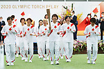 Members of the Nadeshiko JapanJapan's women's football team participate in <br /> The Grand Start Ceremony for the Tokyo 2020 Olympic Torch Relay at Fukushima National Training Center J-Village on March 25, 2021, in Fukushima Prefecture, Japan.<br /> The Torch Relay will last 121 days and visit all of Japan's 47 prefectures. (Photo by Naoki Morita/AFLO SPORT)