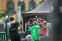 LAKE BUENA VISTA, FL - JULY 14: Chicago Fire celebrate a goal during a game between Seattle Sounders FC and Chicago Fire at Wide World of Sports on July 14, 2020 in Lake Buena Vista, Florida.