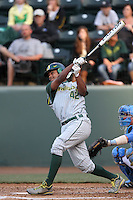 Thomas Walker #42 of the Oregon Ducks bats against the UCLA Bruins at Jackie Robinson Stadium on April 6, 2012 in Los Angeles,California. Oregon defeated UCLA 8-3.(Larry Goren/Four Seam Images)