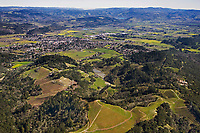 aerial photograph vineyard Napa Valley, California