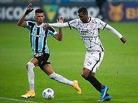 28th August 2021; Arena do Gremio, Porto Alegre, Brazil; Brazilian Serie A, Gremio versus Corinthians; Rodrigues of Gremio and Jô of Corinthians