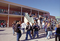 High School students in front of the First Year Academy. High School Students. Rio Rancho New Mexico USA.