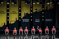 Nairo Quintana (COL) and his Team Arkéa Samsic at the pre Tour teams presentation of the 108th Tour de France 2021 in Brest at le Grand Départ.<br /> <br /> 108th Tour de France 2021<br /> <br /> ©kramon