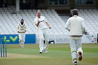 Rikki Clarke, Surrey CCC celebrates the wicket of Weatherley during Surrey CCC vs Hampshire CCC, LV Insurance County Championship Group 2 Cricket at the Kia Oval on 1st May 2021