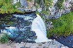 View of the top of Tumalo Falls, on Tumalo Creek, near Bend, Oregon.